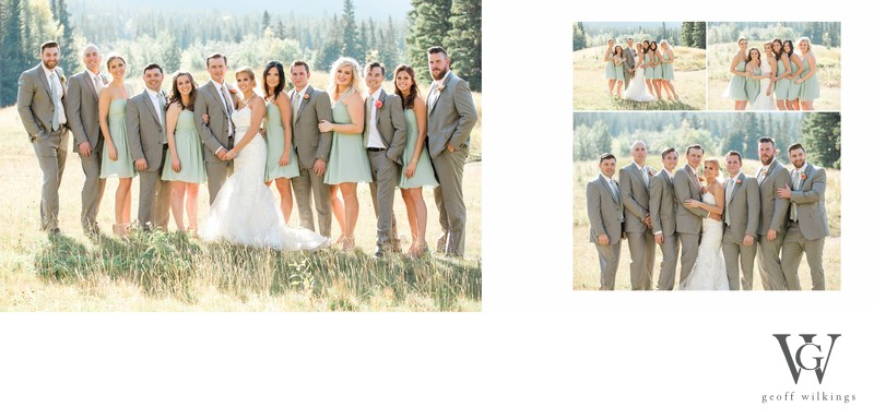Bridal Party Canmore Wedding Photographer