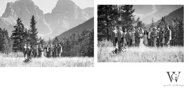 Canmore Meadows Bridal Party Photos Photographs