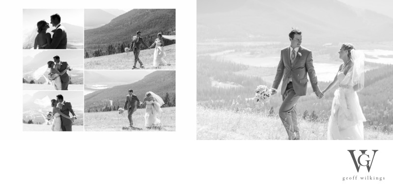 Wedding Photos Big Mountain Feel - Banff National Park
