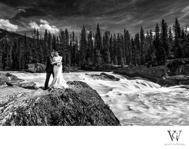 Emerald Lake Lodge Wedding Natural Bridge Photos