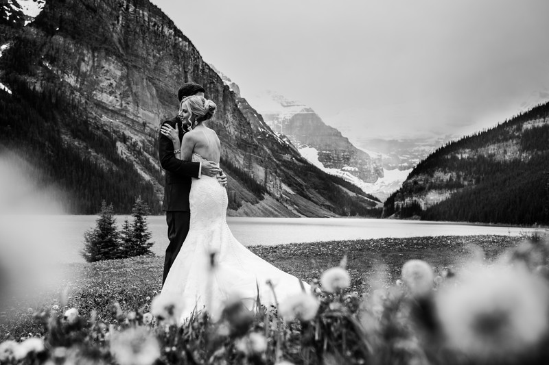 Chateau Lake Louise Wedding Photos Victoria Glacier