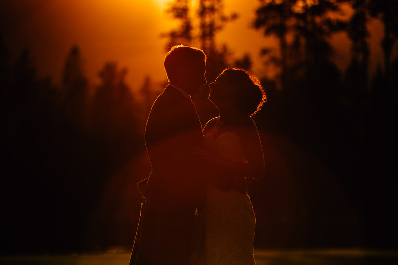 Silvertip Wedding Photos Canmore Sunset Photographers