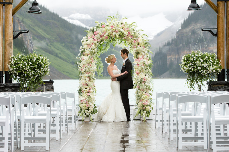 Wedding Arch At The Fairmont Chateau Lake Louise