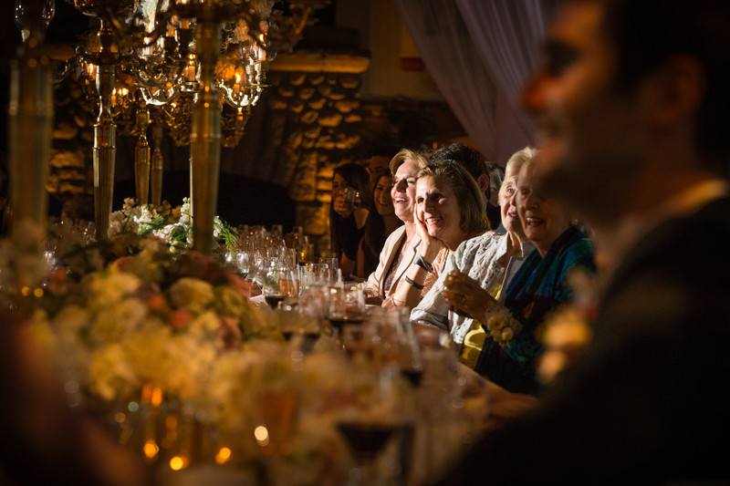 Guests Laughing During Reception at Chateau Lake Louise