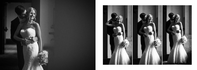 Window Light Chateau Lake Louise Bride + Groom