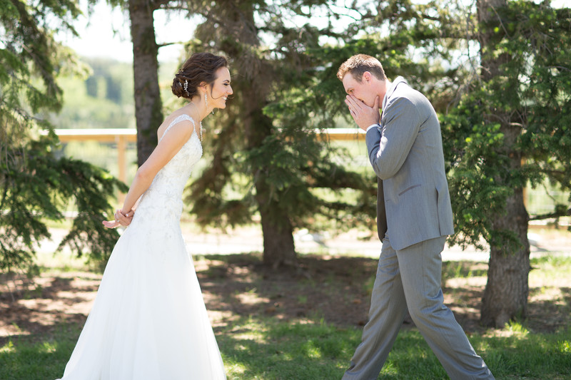 Calgary Wedding Photographers First Look Photos