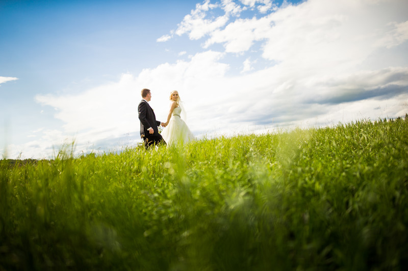 Calgary Wedding Photographers Bride & Groom Walking
