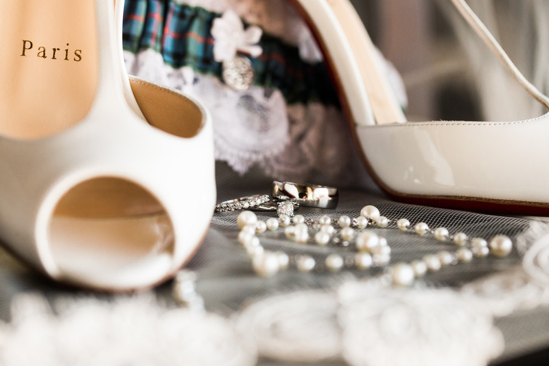 Details of Jewellery + Shoes Silvertip Wedding Photos