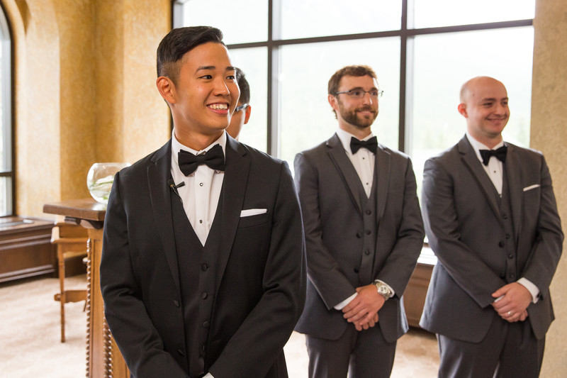 Banff Springs Hotel Wedding Photos Ceremony First Look