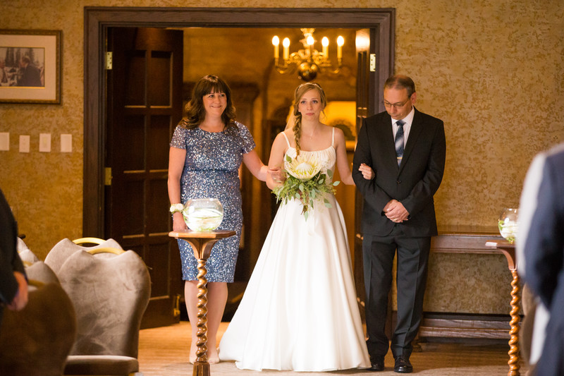 Banff Springs Hotel Wedding Photos Bride Walking
