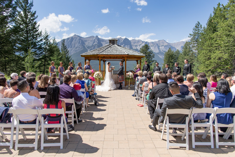 Silvertip Wedding Photos Ceremony Photograph Blue Sky