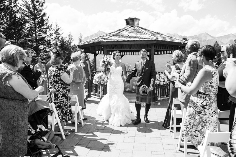 Silvertip Wedding Photos Bride + Groom Walking