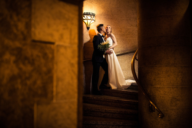 Banff Springs Hotel Wedding Photos Spiral Stairs Photos