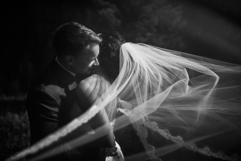 Veil Flowing In The Wind Black White Photography Photos