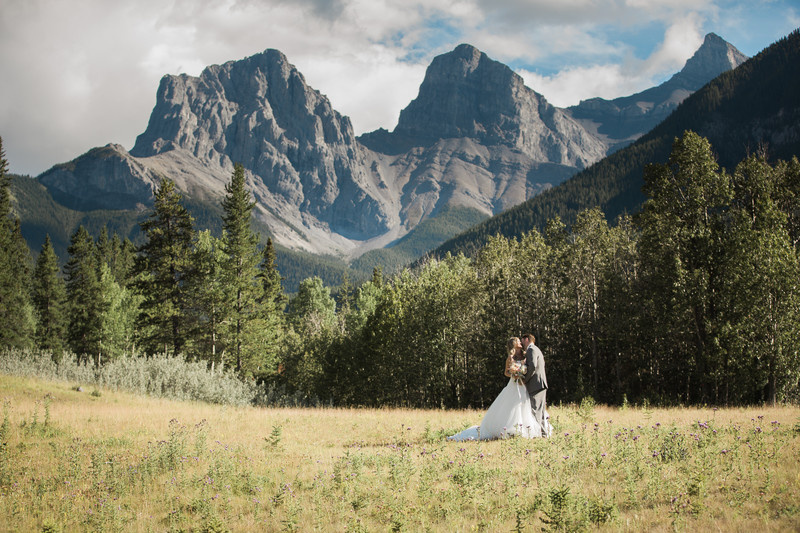 Three Sisters Canmore Wedding Photos
