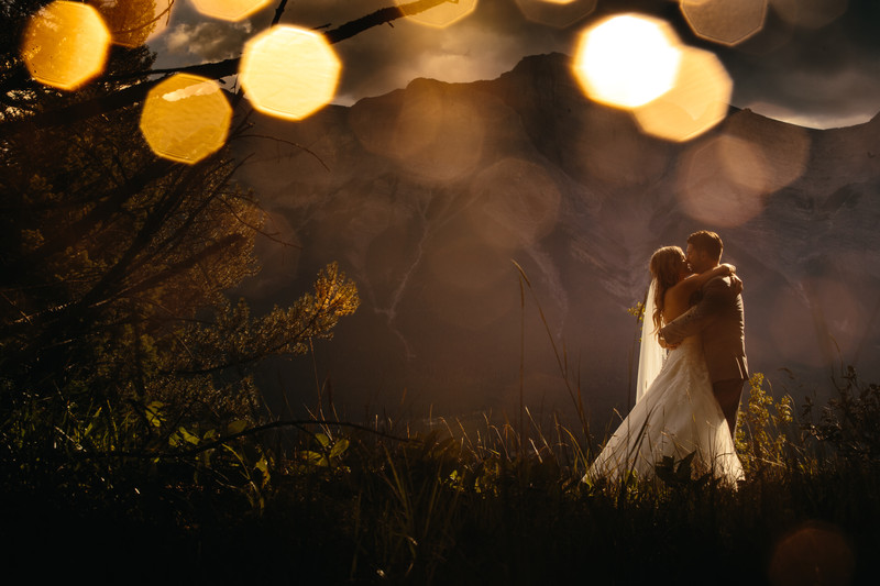 Bride + Groom Creative Photography Shoot Canmore