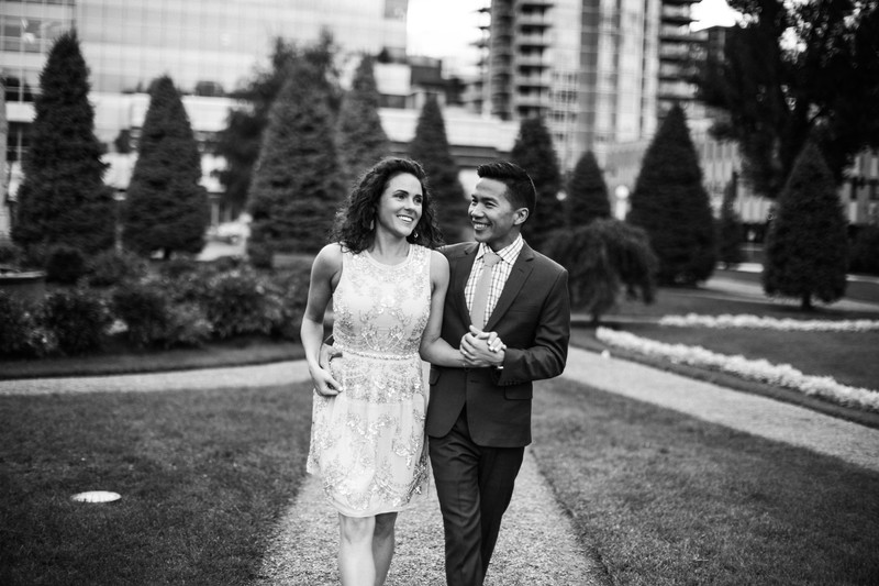 Calgary Elopement Photos Bride  Walking Laughing
