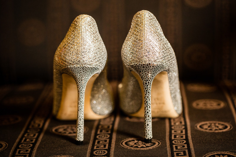 Brides Shoes Banff Springs Hotel Wedding Photographers