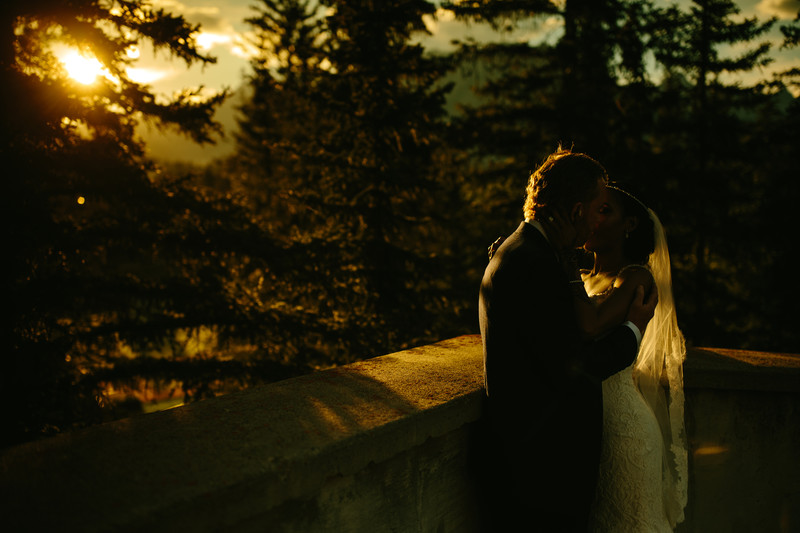 Gorgeous Sunset at Banff Springs Hotel Wedding Photos