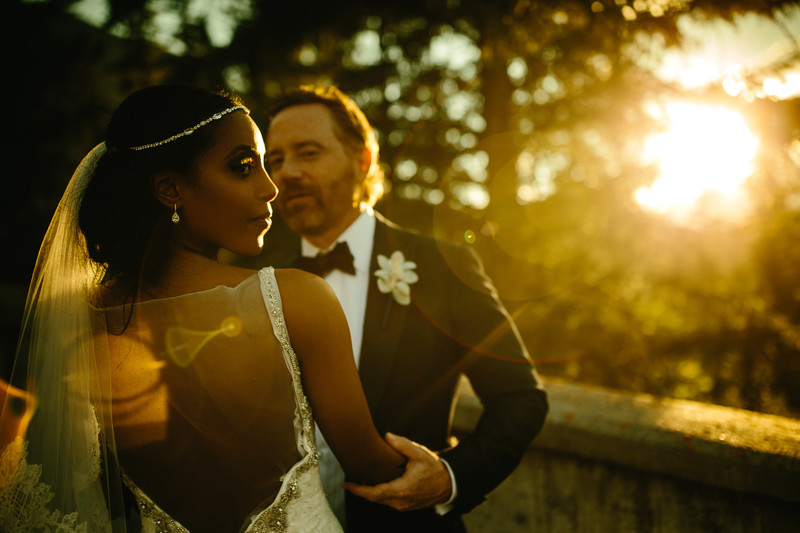 Bride + Groom Sunset Banff Springs Hotel Wedding photos