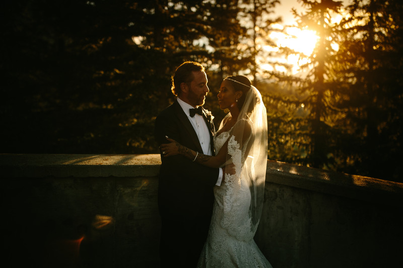 Evening Sunset Photos by Calgary wedding Photographers
