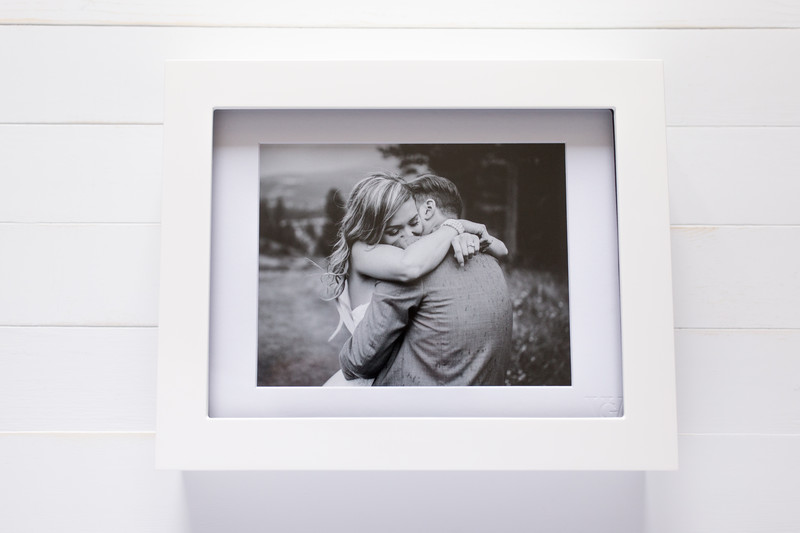 Closed Portrait Box With 11x14 Matted Prints Inside
