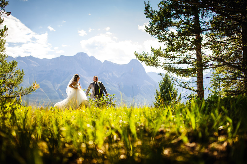 Bride + Groom Canmore The Canadian Rockies + Banff