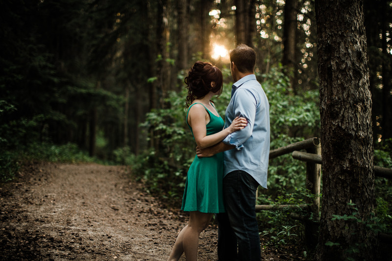 Calgary Wedding Photographer Forest Wooden Photos