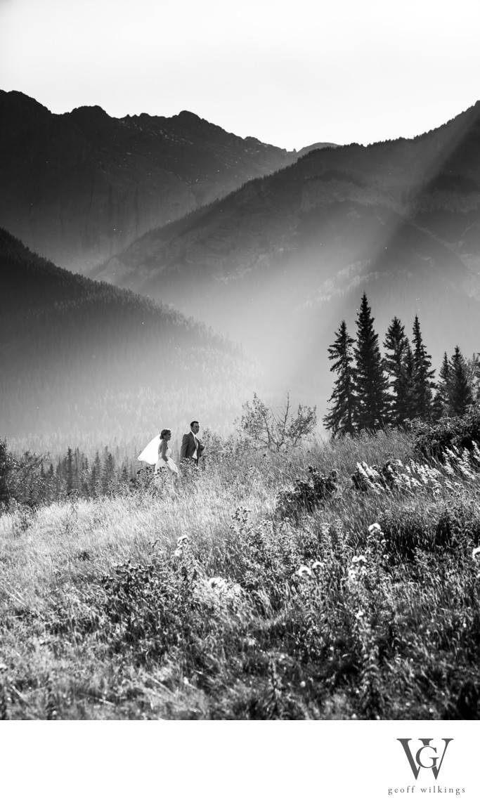 Gorgeous Afternoon Light Canmore Wedding Photographers