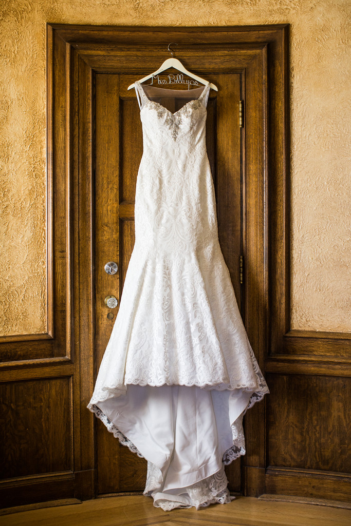Dress Hanging Up On Door At The Banff Springs Hotel
