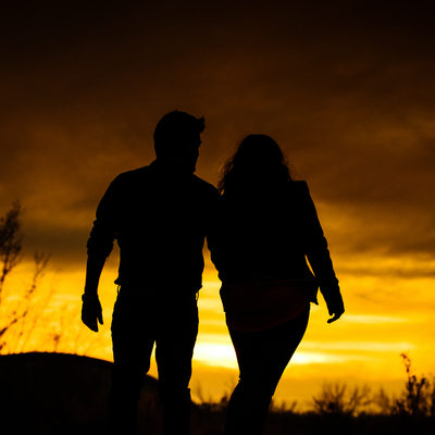 Calgary Sunset Engagement Photography Shoot Photos