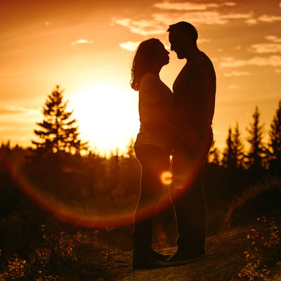 Sunset Calgary Engagement Photography Shoot Photos