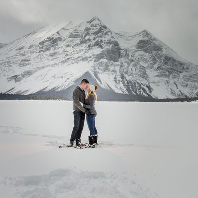 Future Bride + Groom Together In The Canadian Rockies