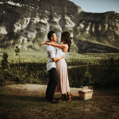 Banff Wedding Photographers Engagement Shoot Photos
