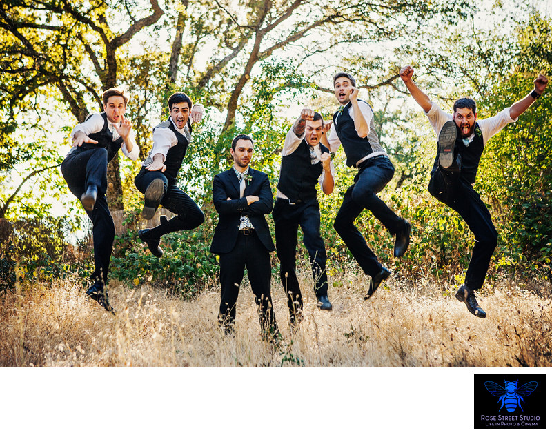 Groomsmen in Grass Valley