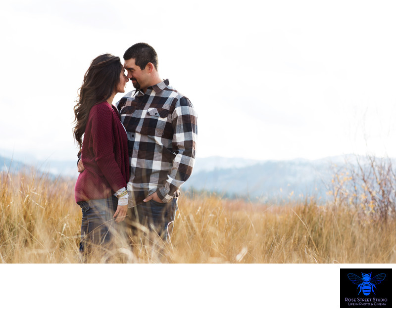 Mountain Engagement Session in Lake Tahoe