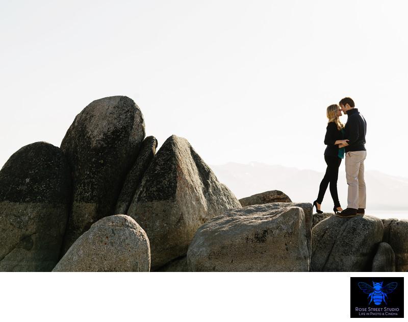 Lake Tahoe Beach Engagement Session