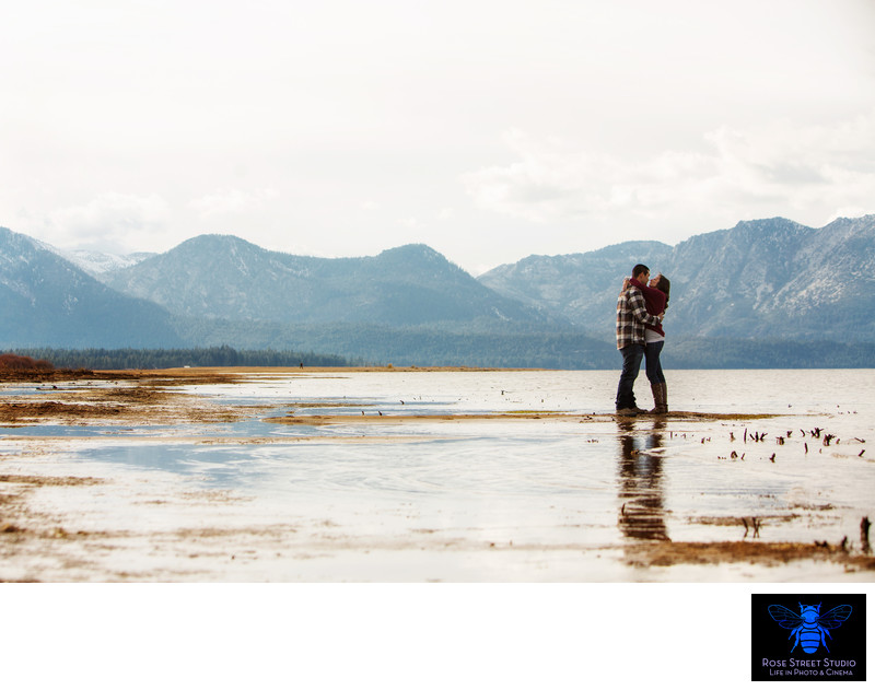 Mountain Engagement session Tahoe