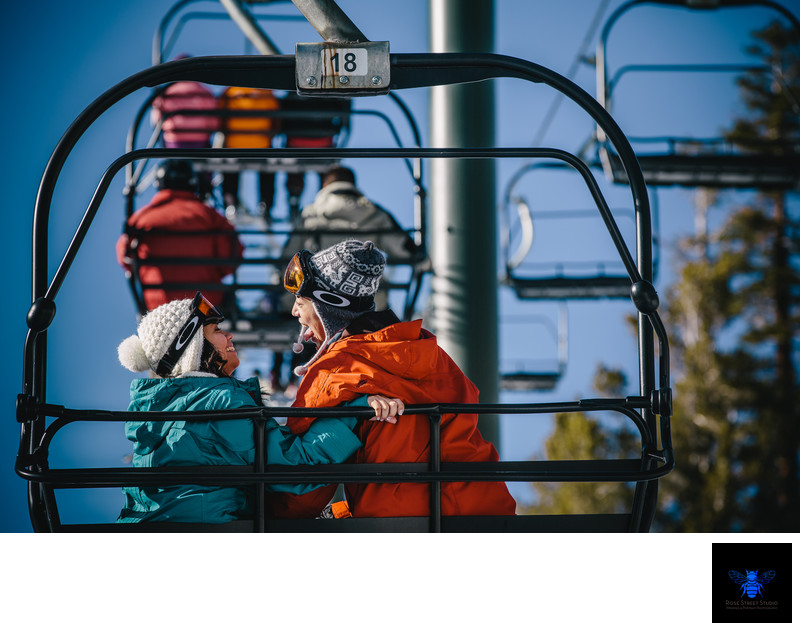 Snowboarding Engagement Photos