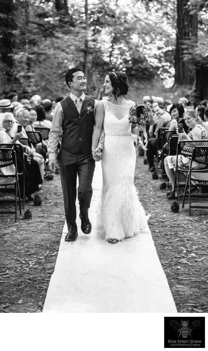 Newlyweds in Mendocino