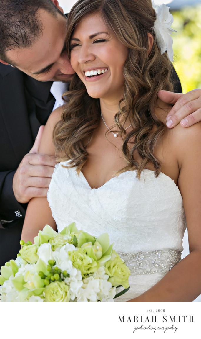 Lakeside wedding portrait