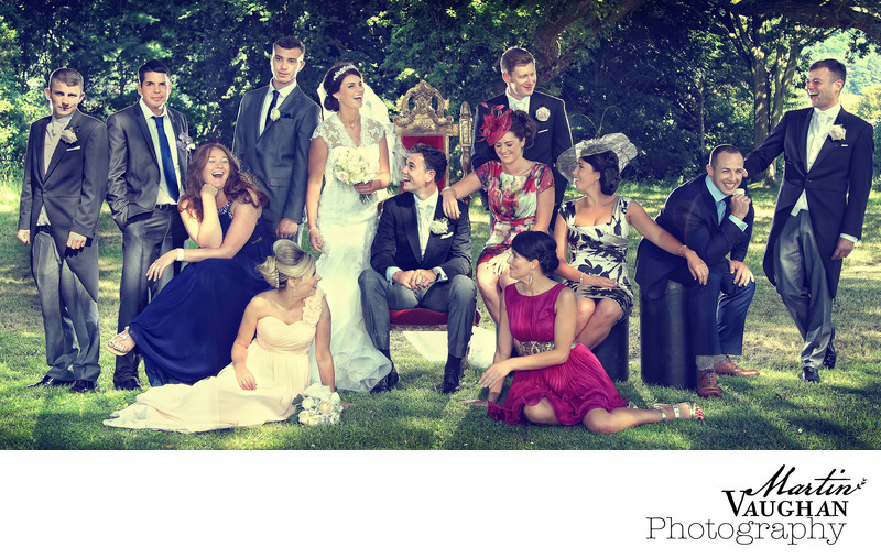 Vanity Fair style wedding group phototgraphy