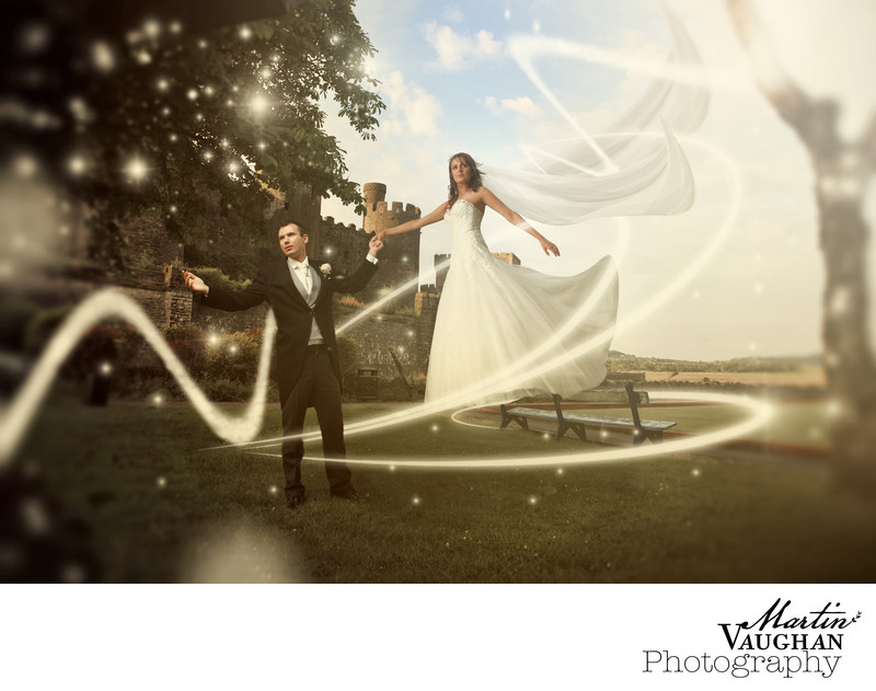 Magical Disney style wedding photography North Wales