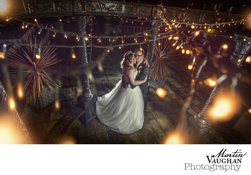 Atmospheric wedding photography Meifod caernarfon