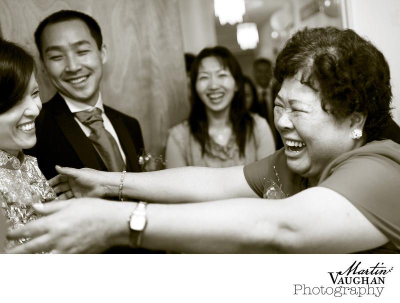 Emotional wedding photos at Chinese wedding portmeirion