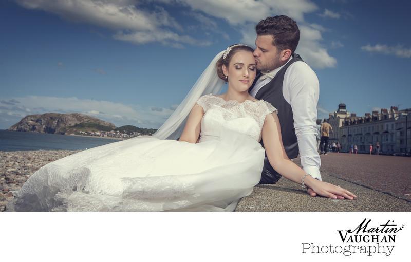 Most romantic wedding photographer Llandudno North Wales