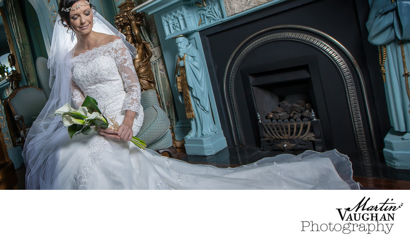 Stylish portmeirion wedding photography