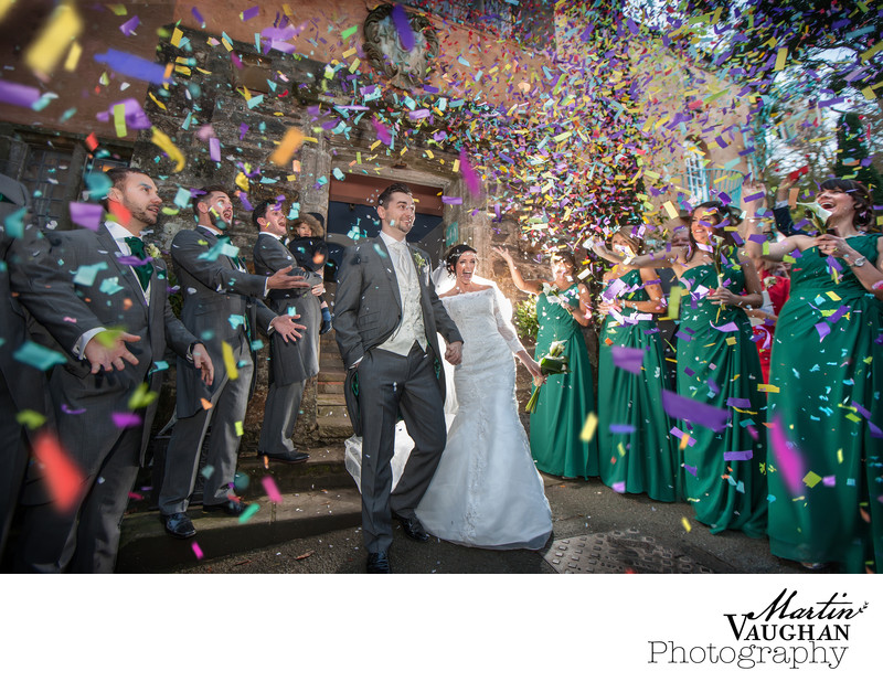 Colourful portmeirion wedding photography