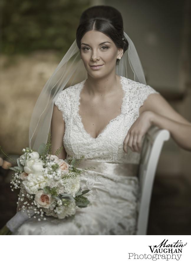 Bodnant Welsh food wedding photography bride