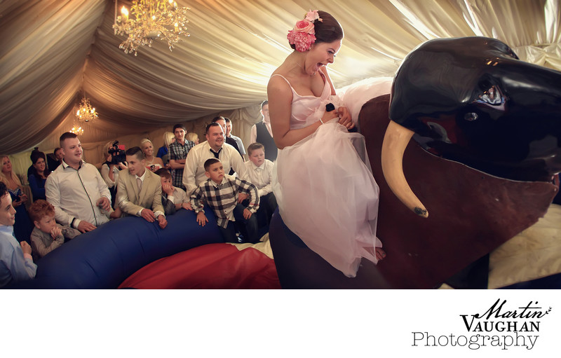 Rodeo Bull wedding at Meifod Anglesey